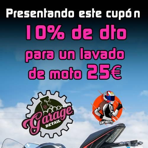 Tu moto siempre perfecta con Garage Detail Madrid: encerado y precio especial para los seguidores de Encinetti